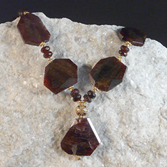 artisan garnet necklace