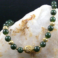 jade and vermeil necklace