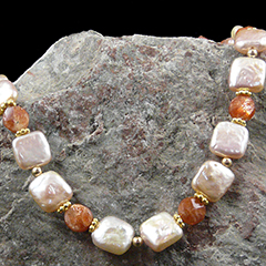 pearl and sunstone necklace