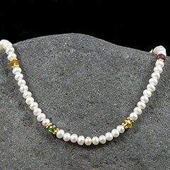 pearl and tourmaline necklace